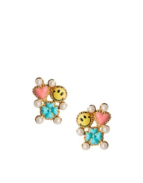 Image 1 ofDisaya Smiley Lucky Companion Earrings