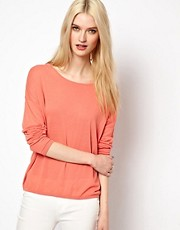 Selected Mylia Knit Top in Viscose Cotton Yarn