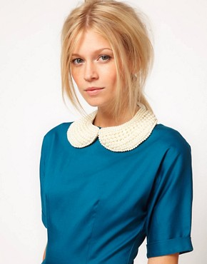 Image 1 ofASOS Pearl Peter Pan Collar