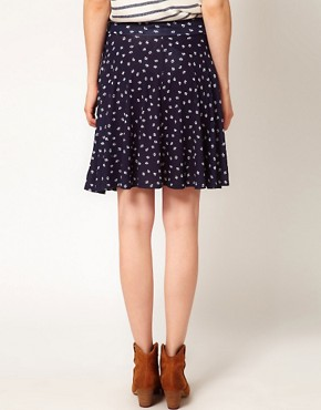 Image 2 ofA Wear Printed Skater Skirt