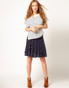 Image 1 ofA Wear Printed Skater Skirt