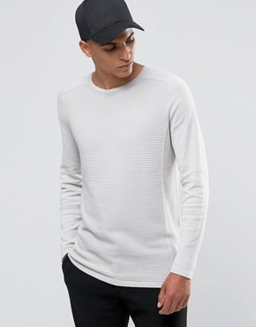 Selected Homme - Maglione girocollo raglan a coste