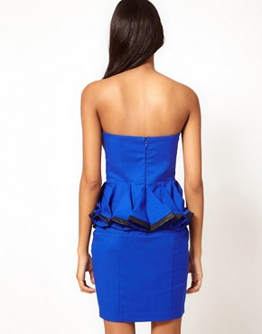 Image 2 ofLipsy Peplum Bandeau Dress