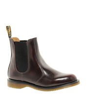 Dr Martens - Kensington Flora - Stivaletti Chelsea bordeaux