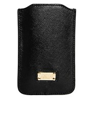 Moschino Cheap &amp; Chic Leather iPhone Holder
