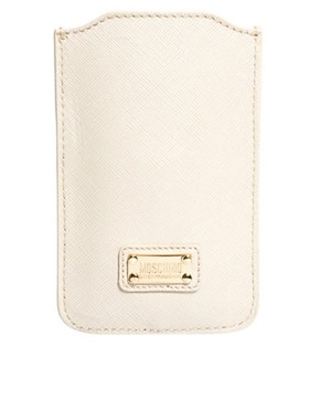 Image 1 ofMoschino Cheap &amp; Chic Leather iPhone Holder