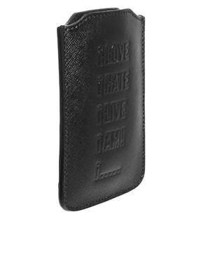 Image 2 ofMoschino Cheap &amp; Chic Leather iPhone Holder