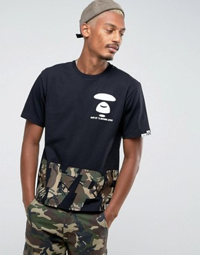 AAPE By A Bathing Ape T-Shirt With Camo Logo Print