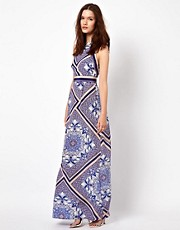Warehouse Scroll Scarf Maxi Dress