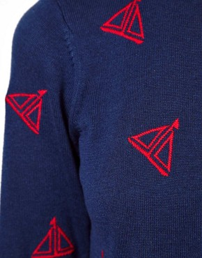 Image 3 ofASOS Jumper With Embroidered Boats