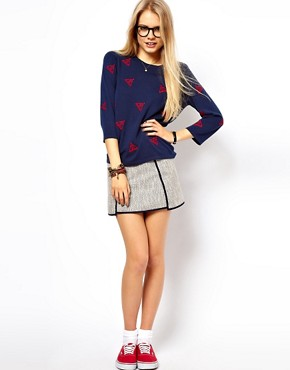 Image 4 ofASOS Jumper With Embroidered Boats