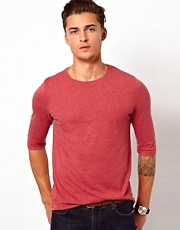 ASOS 3/4 Sleeve T-Shirt With Crew Neck