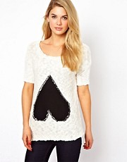 Vila Heart Sweater
