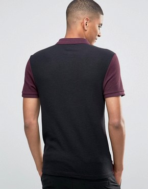 ASOS Muscle Textured Polo With Contrast Back In Red