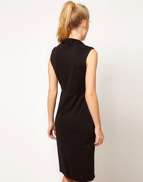 Image 2 ofGlamorous Open Neck Pencil Dress