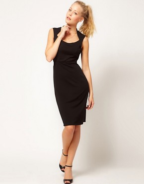 Image 4 ofGlamorous Open Neck Pencil Dress