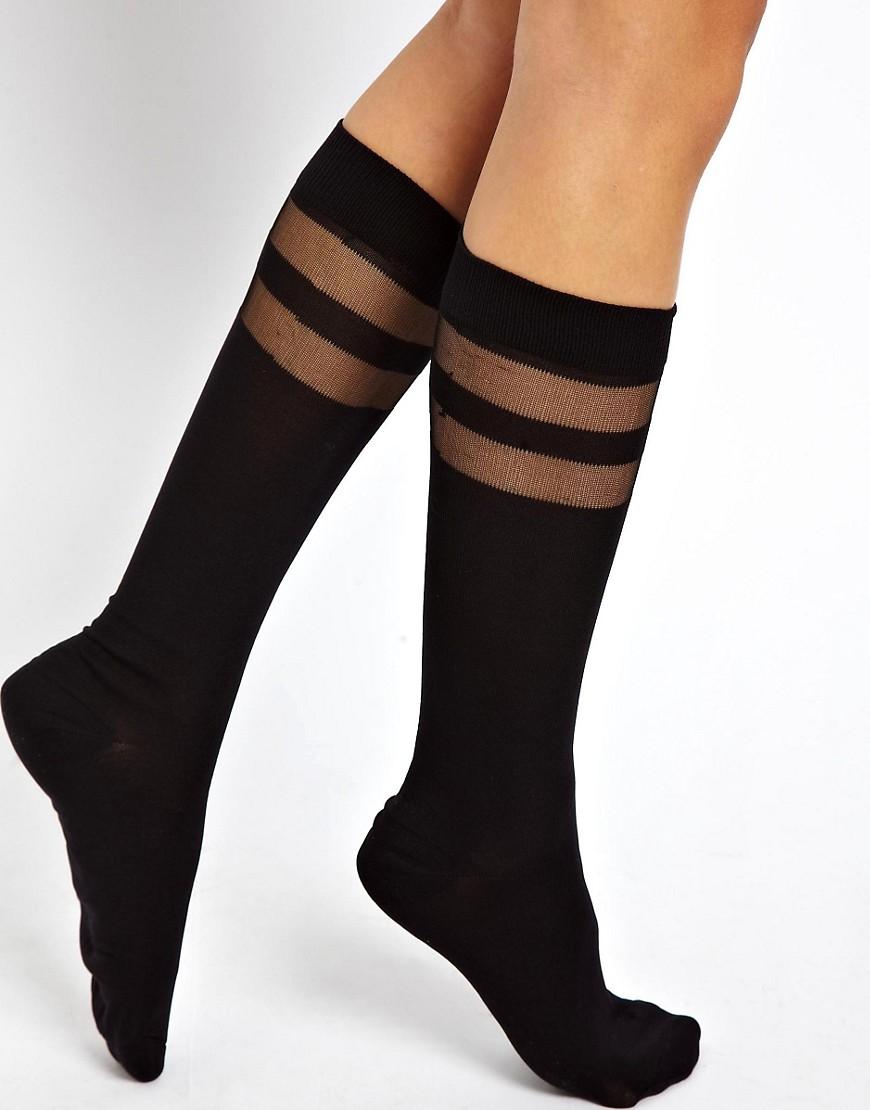 Image 1 ofASOS Knee High Double Stripe Socks