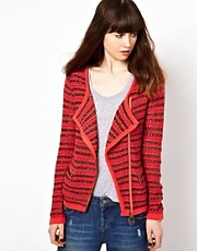 Eleven Paris Biker Cardigan with Asymmetric Zip