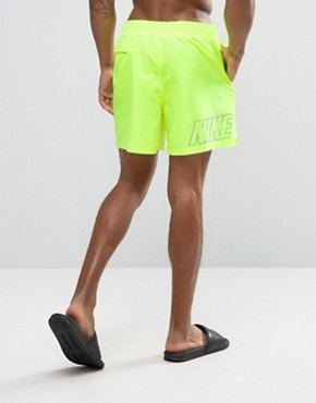 Nike Swim Shorts With Back Logo Print In Yellow