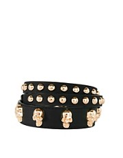 ASOS Skull And Stud Skinny Waist Belt