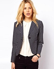 ASOS Blazer in Premium Spot Jacquard