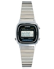 Casio Black &amp; Silver Mini Digital Watch