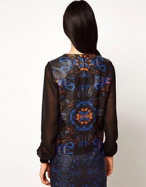 Image 2 ofASOS BLACK By Markus Lupfer Leather Top In Print