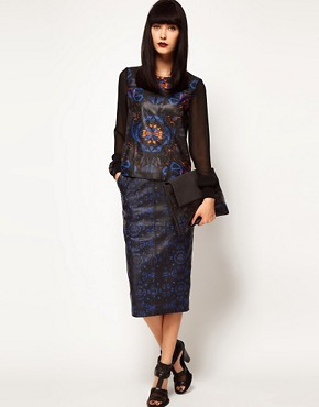 Image 4 ofASOS BLACK By Markus Lupfer Leather Top In Print