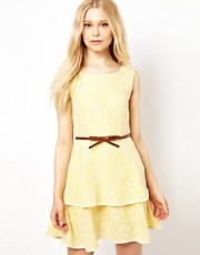 Jovonnista Lace Dress With Belt