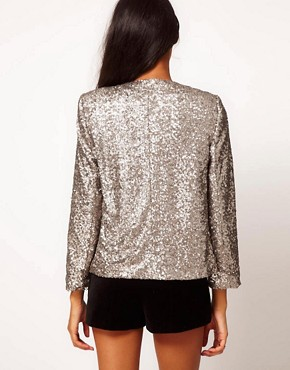 Image 2 ofASOS Blazer With All Over Sequins
