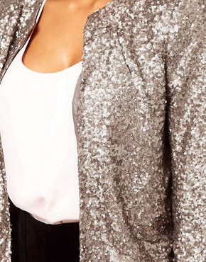 Image 3 of ASOS Blazer With All Over Sequins