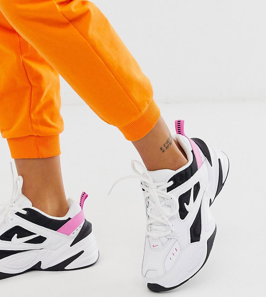 Nike - M2K Tekno - Baskets - Blanc, noir et rose