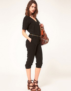 Image 4 ofASOS Cropped Boilersuit With Zip Front Detail