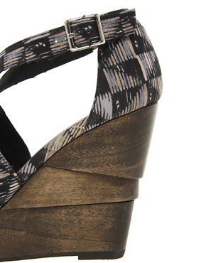 Image 3 ofASOS HETTY Wedges with Cross Straps