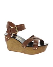 Juicy Couture Leather Dominica Wedge Sandal