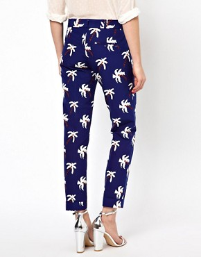 Image 2 ofBoutique by Jaeger Palm Tree Tailored Trousers