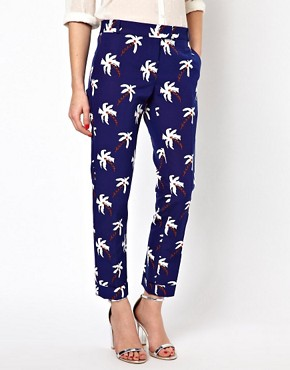 Image 4 ofBoutique by Jaeger Palm Tree Tailored Trousers