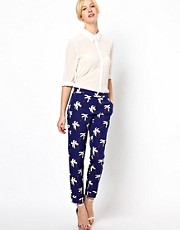Boutique by Jaeger Palm Tree Tailored Pants