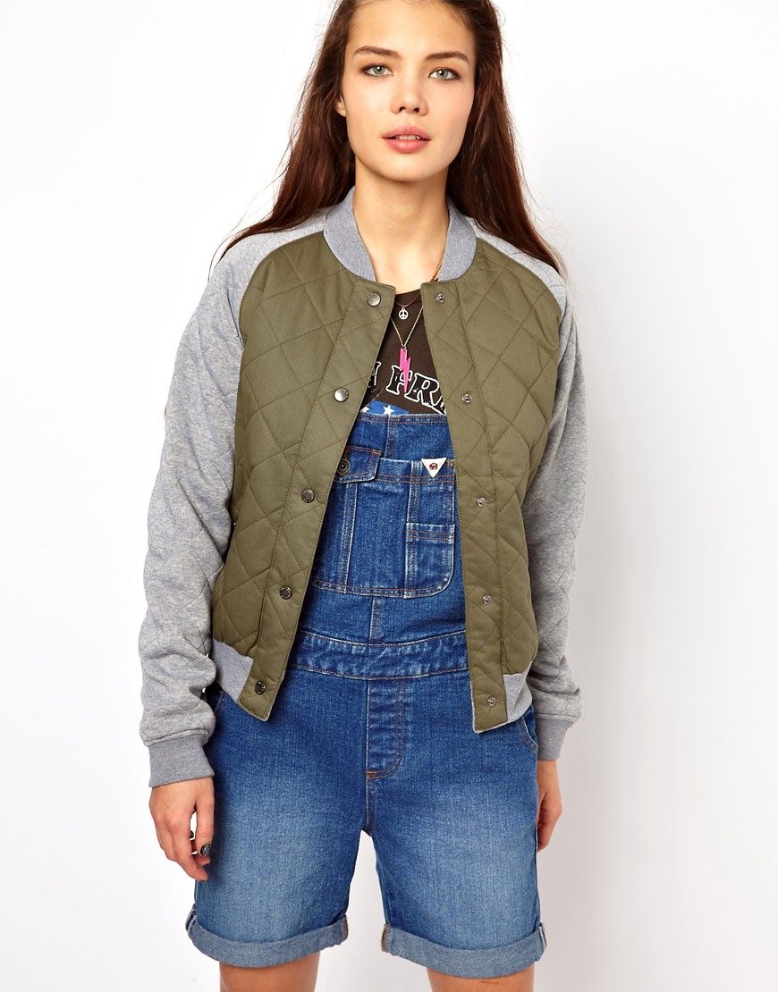 Bellfield Quilted Bomber Jacket