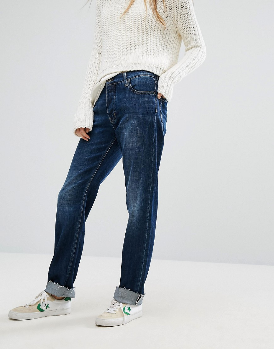 M.i.h Jeans Phoebe Boyfriend Jeans with Turn Up - Yoshida blue