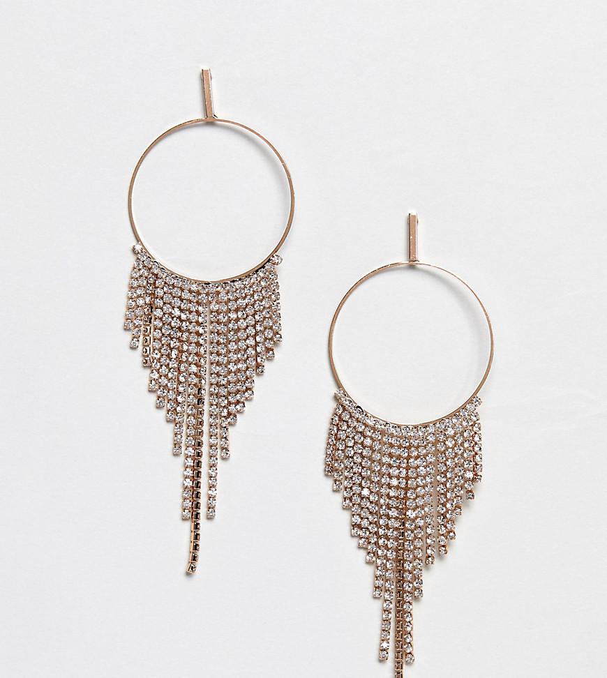 ALDO - Diamante chandelier oorringen - Transparant op goud