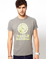 Franklin &amp; Marshall T-Shirt with Neon Seal Print