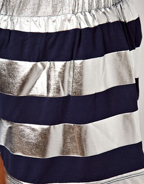 Image 3 ofASOS Shorts in Foil Stripe