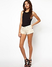 River Island Lace Front Denim Short