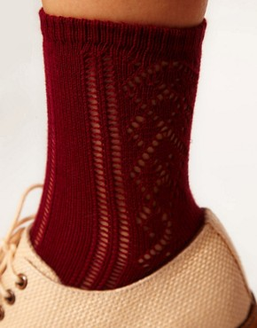 Image 2 ofASOS Crochet Sock