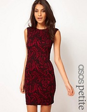 ASOS PETITE Exclusive Bodycon Dress In Textured Fabric