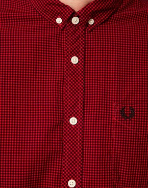 Image 3 ofFred Perry Overdyed Gingham Shirt