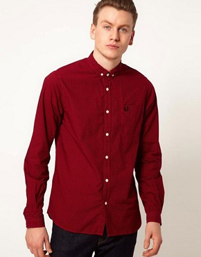 Image 1 ofFred Perry Overdyed Gingham Shirt