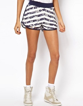 Image 4 ofASOS Lace Shorts with Stripe Print