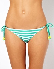 Pieces Glenda Stripe String Bikini Brief